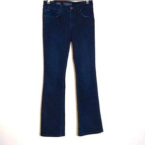 The limited high waisted boot-cut jeans size 6r